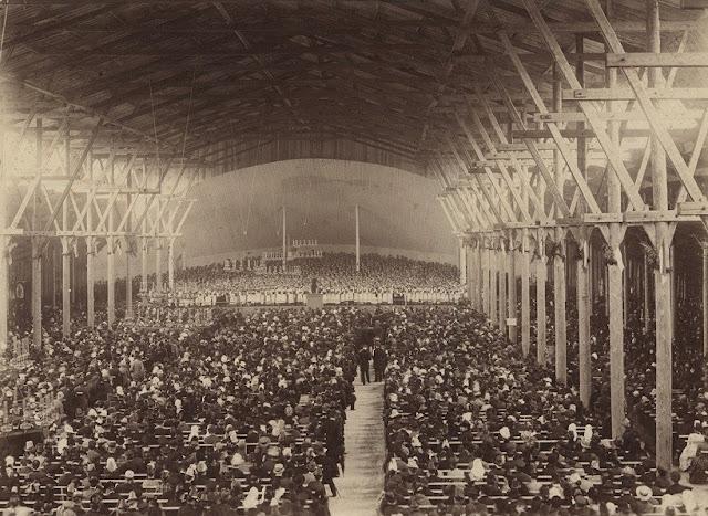 1888 год. III Праздник песни (foto: Rīgas Vēstures un kuǵniecības muzejs)