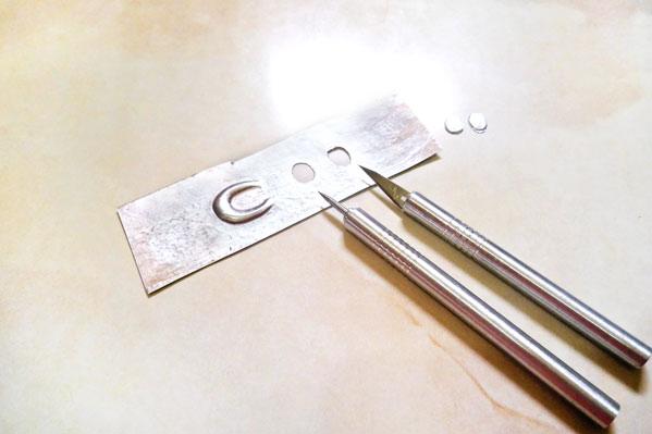 calador las herramientas para repujado en aluminio