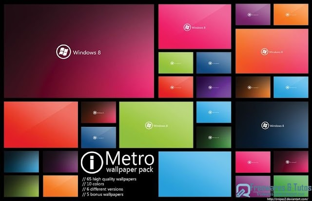 Pack de 65 fonds d'écran Windows 8 (Metro UI) à télécharger