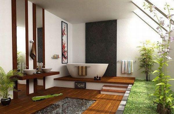 Mẫu phòng tắm đẹp gắn với thiên nhiên