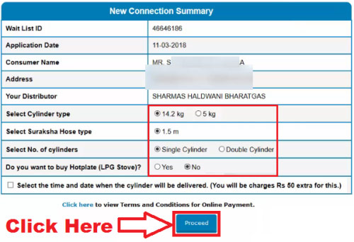 pay online for new bharat gas connection