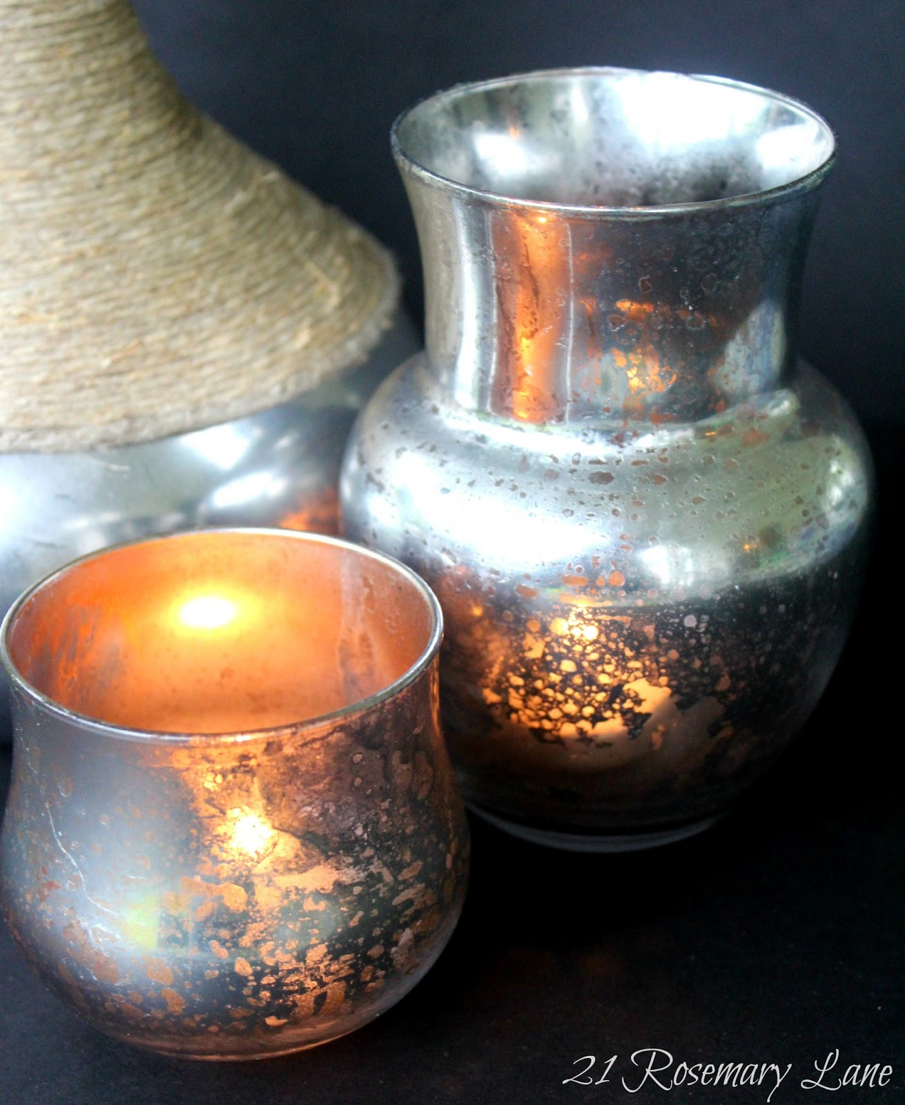 Mercury Glass: 21 Rosemary Lane: Make Your Own Mercury Glass Votives And