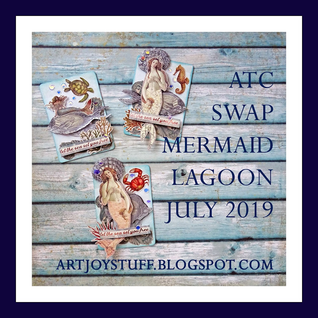 ArtJoyStuff July 2019 ATC Swap