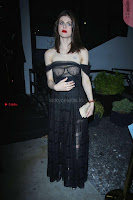 Alexandra Daddario Showing off her  in transparent top at Dior Addict Lacquer Pump Launch ~ Celebs.in Exclusive 002.jpg