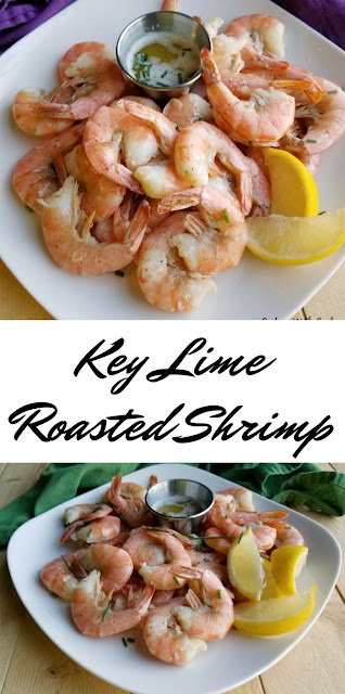This roasted shrimp is kissed with the citrusy goodness of key lime juice. Dip them into lime butter for an extra special treat.  They are like taking a bite of Florida.