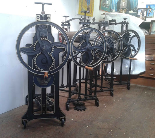 Steampunk Etching Presses: Classic Etching Presses' New Models..