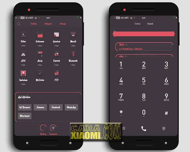 Screenshoot Thema MIUI Xiaomi Cikukua Reborn update mtz Design by Phien Seuri
