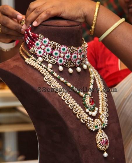 Lakshmi Manchu Colorful Diamond Choker