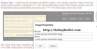 Tambahkan dan optimalkan tag alt gambar
