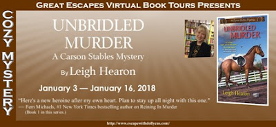 Bea's Book Nook, Review, Giveaway, Unbridled Murder, Leigh Hearon