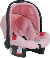 Cadeirinha infantil para auto tour sem base rosa com preto Burigotto até 13kg