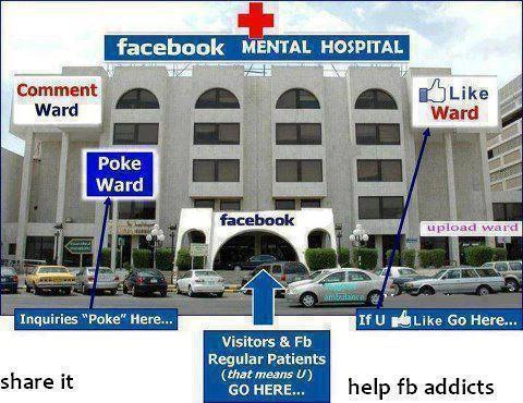 Funny Facebook Mental Hospital Photo Image
