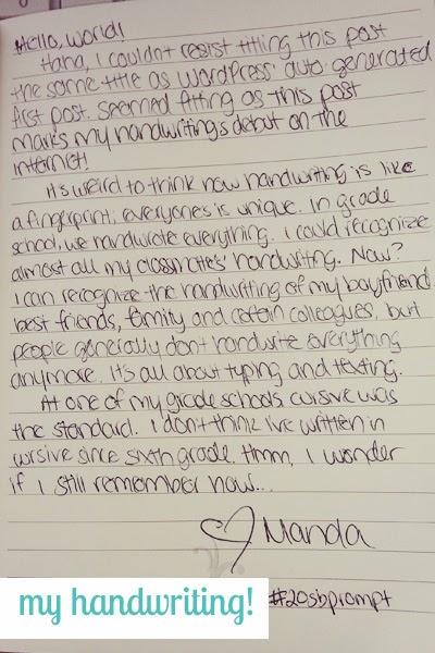girly handwriting