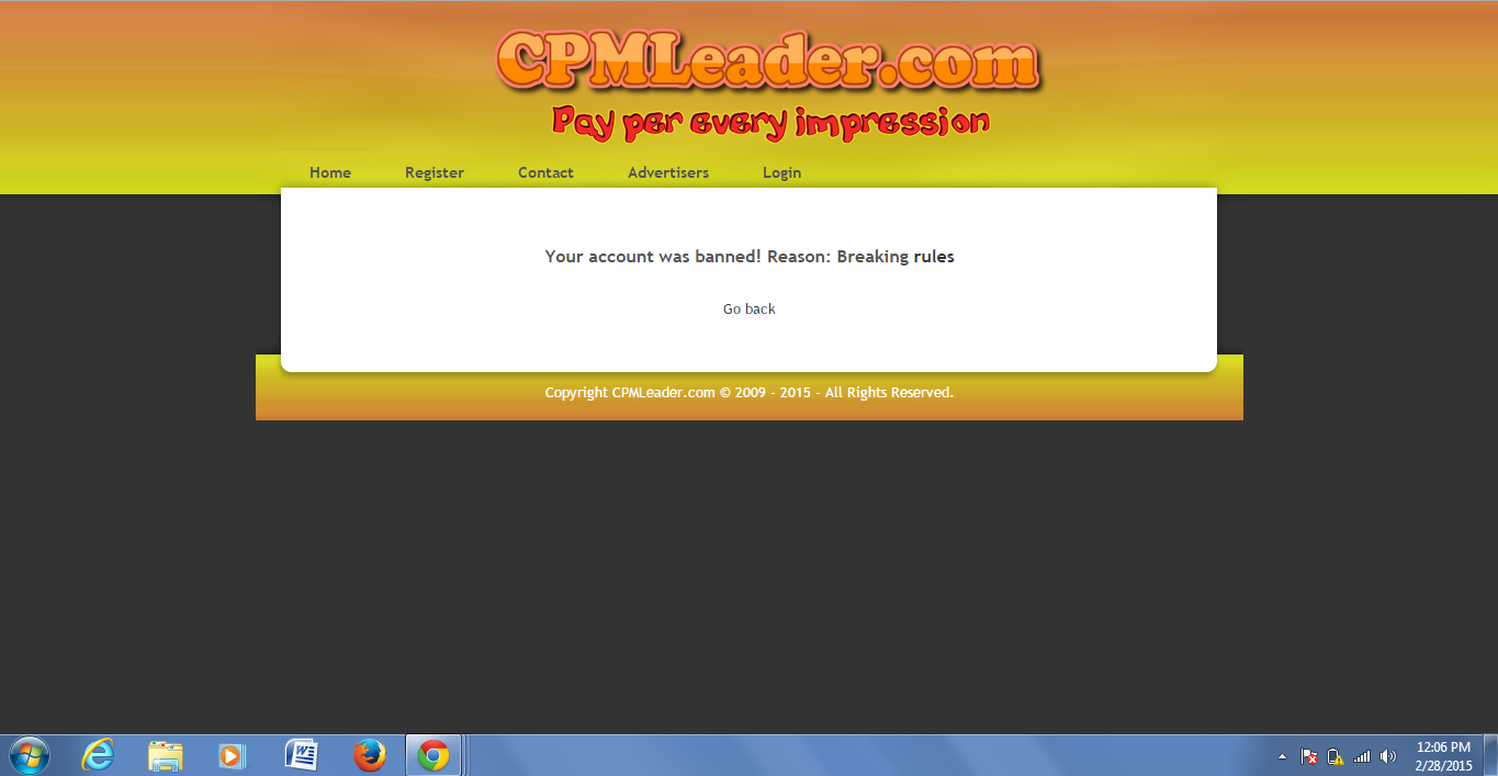 CPMLeader Review Fraud Site - CPM and CPC Network