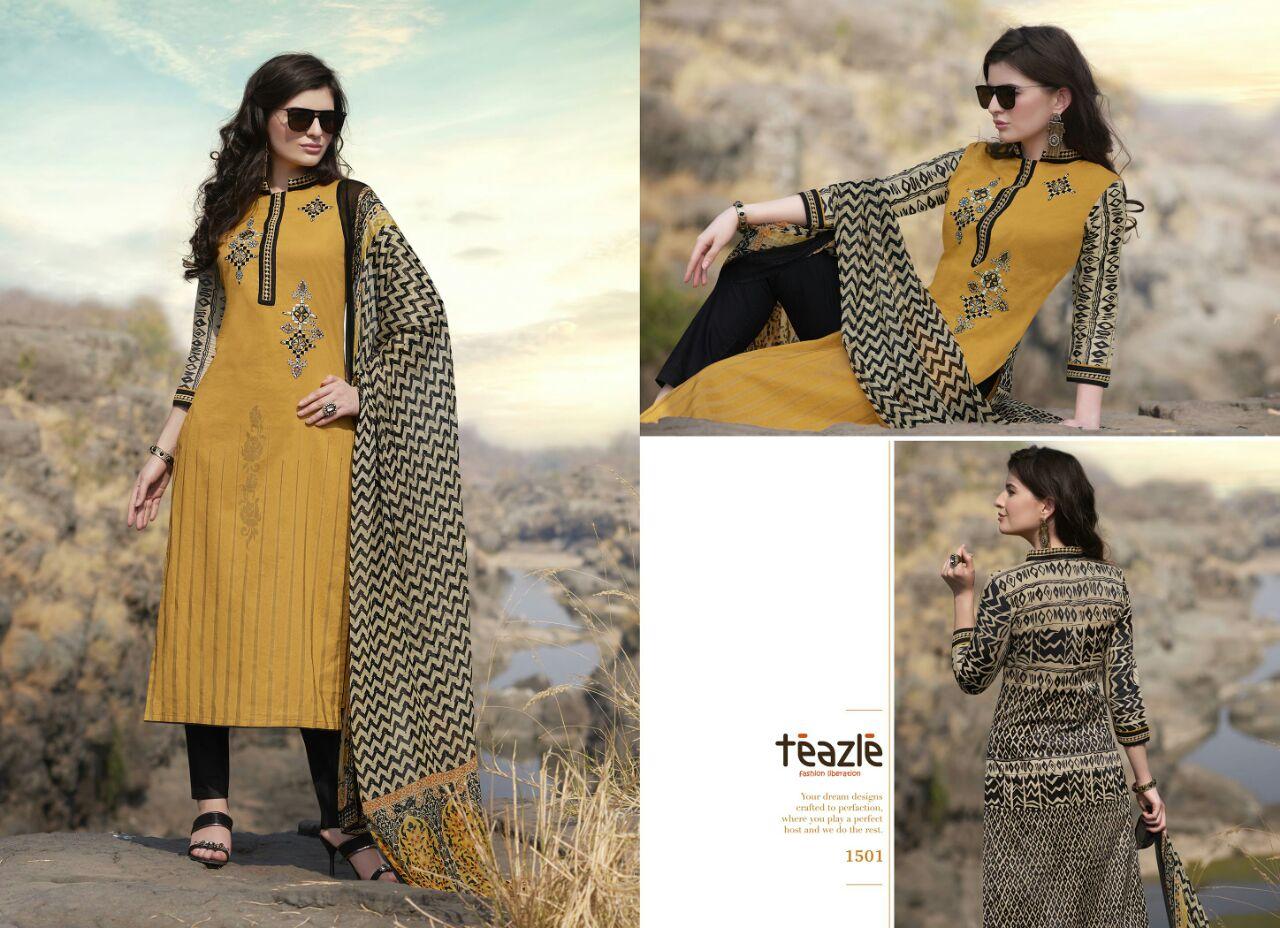 Teazle Organics 5 – Light Embroidered Cotton Salwar Suit