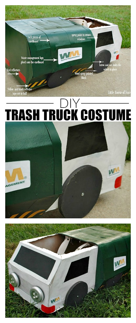 DIY TRASH TRUCK GARBAGE TRUCK COSTUME