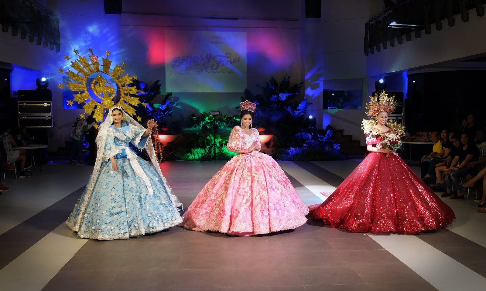 Hermosa Festival of Zamboanga City, Pamulinawen Festival of Laoag, Ilocos Norte, and Lami-Lamihan Festival of Lamitan, Basilan Festival de las Bellas y Flores Gown Competition National Costume