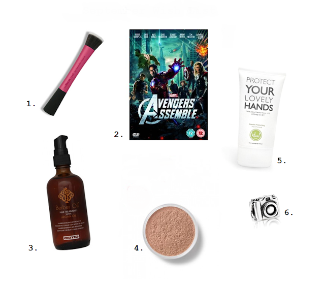 Real Techniques Stippling Brush Marvel Avengers Assemble DVD Berber Oil BareMinerals SPF Foundation Yes Nurse Hand Cream Pandora Charm