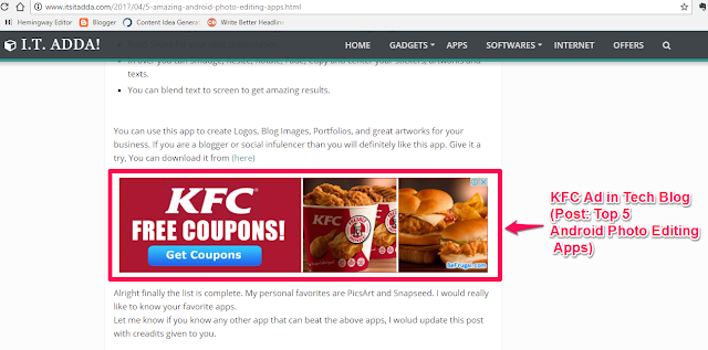 In-Article Ad Example 1
