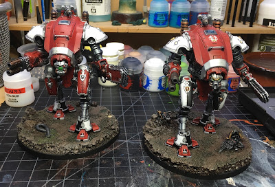 Imperial Knight Armiger Warglaive WIP group shot
