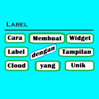 Widget Label dengan Tampilan Cloud yang Unik