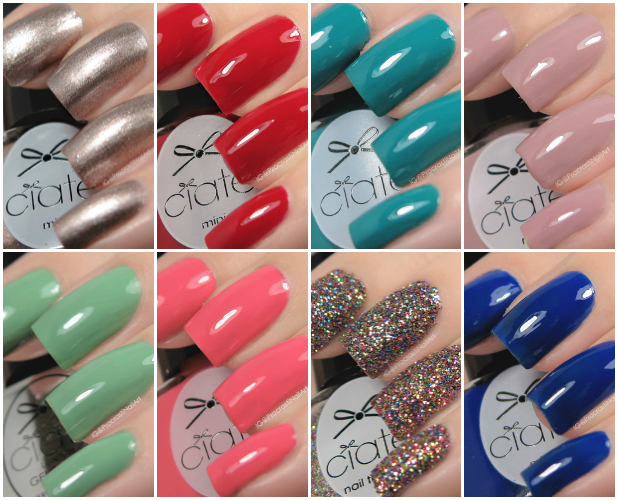 Ciaté London 2016 Mini Mani Month Advent Calendar Swatches