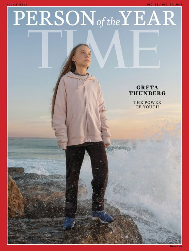 Climate activist Greta Thunberg is Time' 2019 person of the year