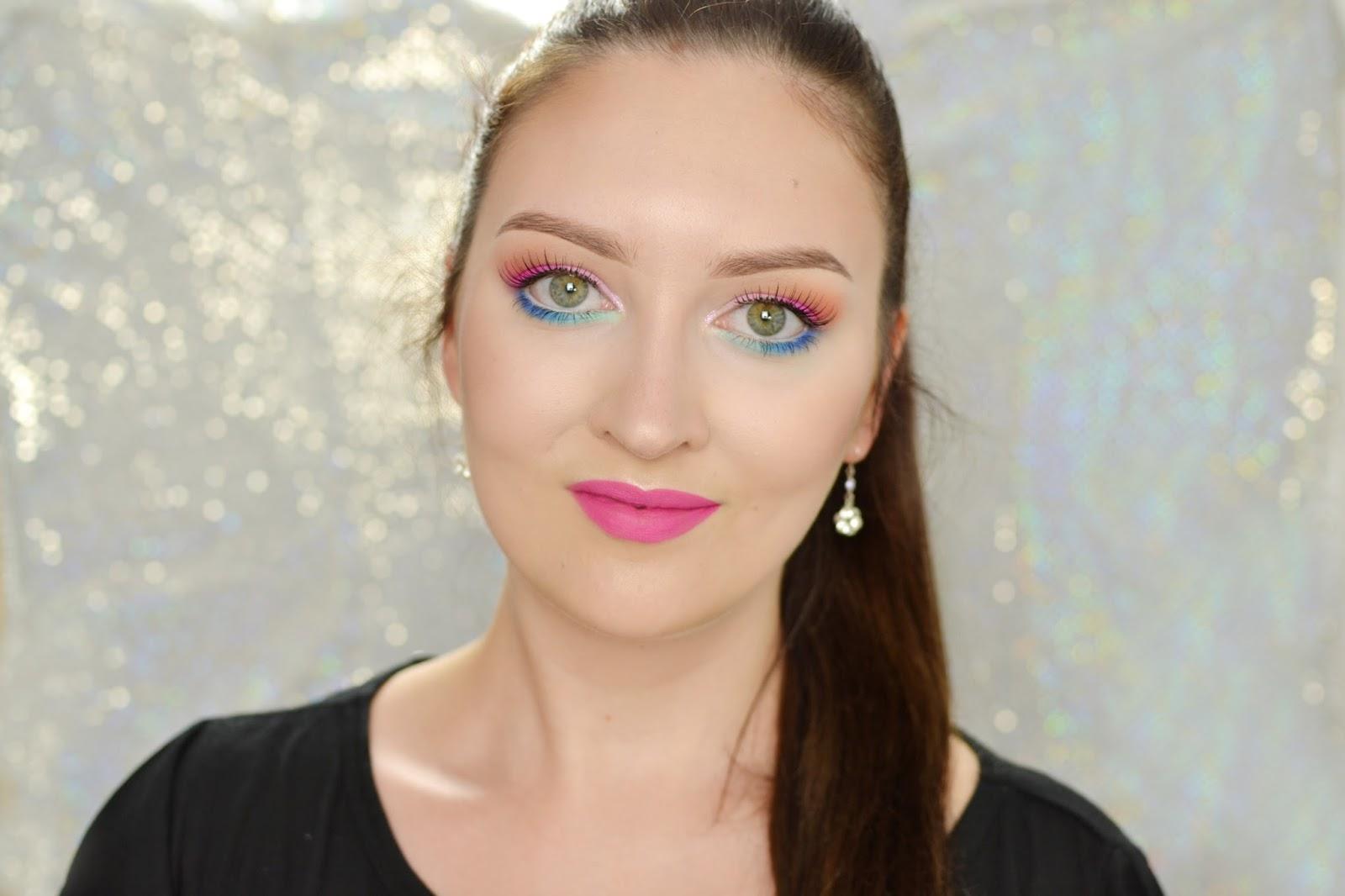 makijaż tropikalny tutorial