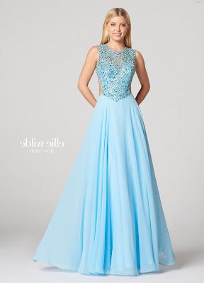 Vestidos de gala color azul celeste