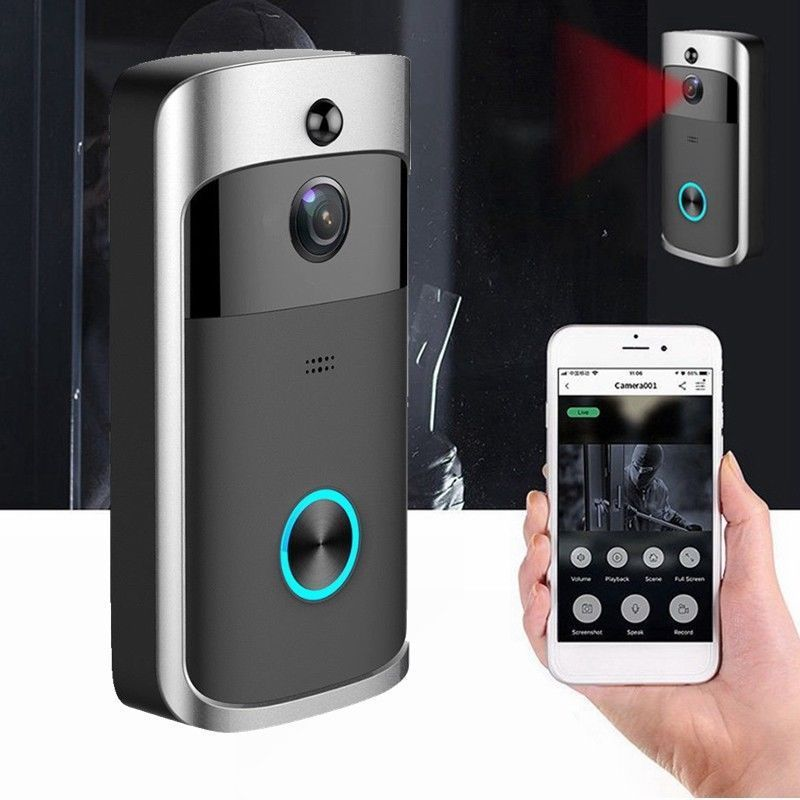 1280*720 Smart Wireless WiFi DoorBell Smart Video Phone Door Visual IR Recording