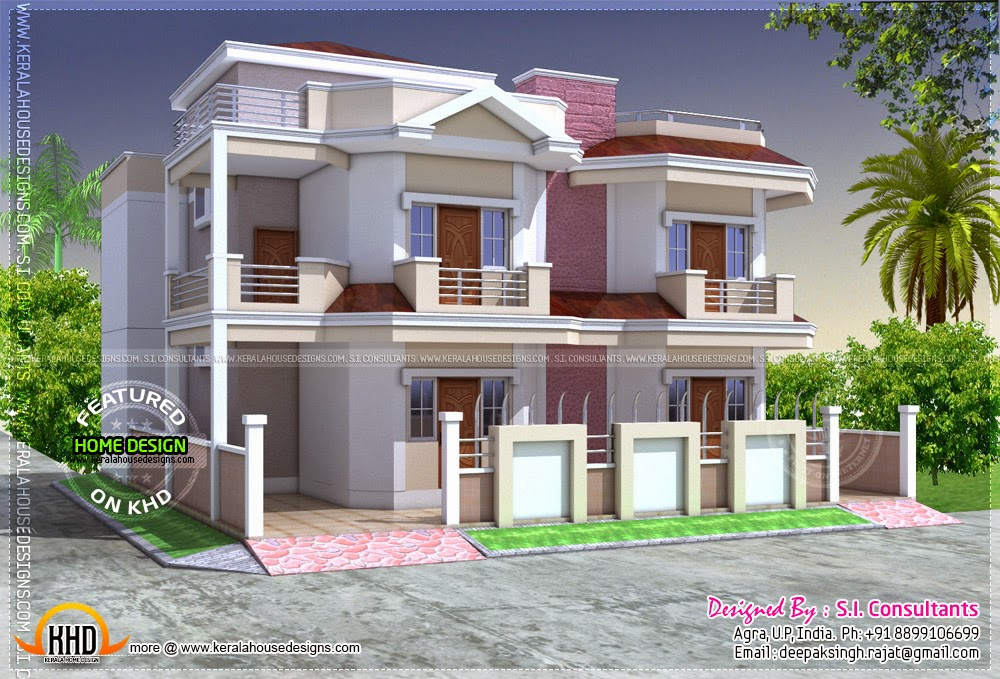 April 2014 kerala home design and floor plans for Modern house designs in punjab