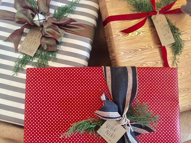 i will probably do something very similar there this year you can find similar lime green wrapping paper and black striped - Hobby Lobby Christmas Wrapping Paper