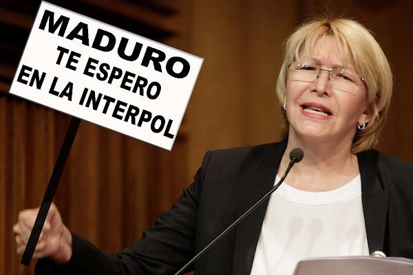 Luisa Ortega Díaz retó a Maduro a presentarse con ella en la puerta de la Interpol