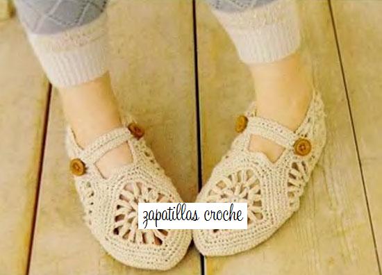 zapatillas crochet, patrones para crochet,