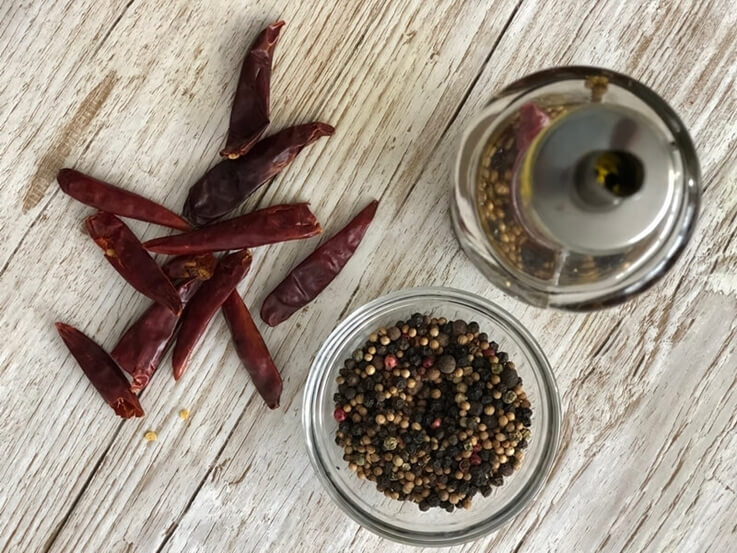 Aceite picante casero