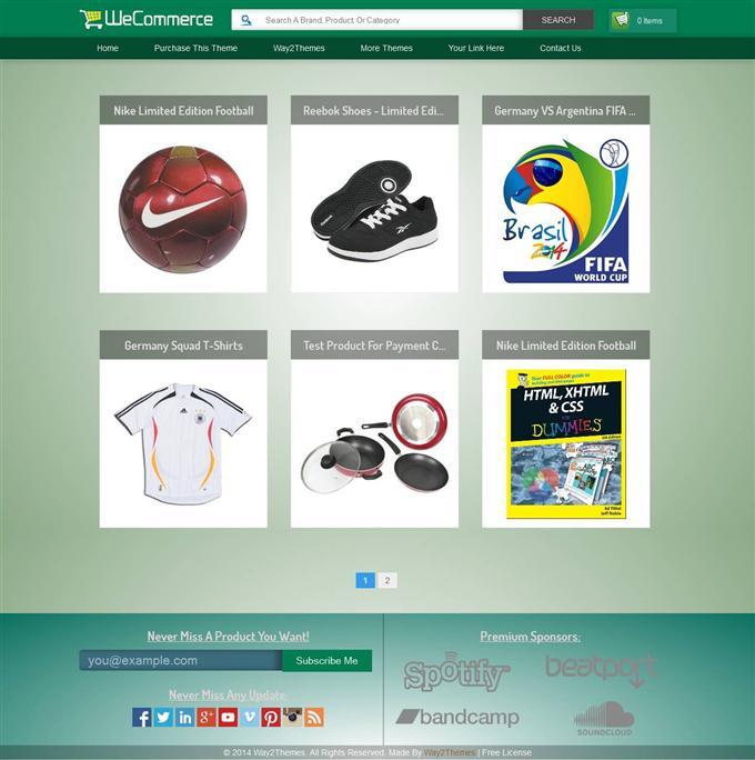 Wecommerce blogger e-commerce