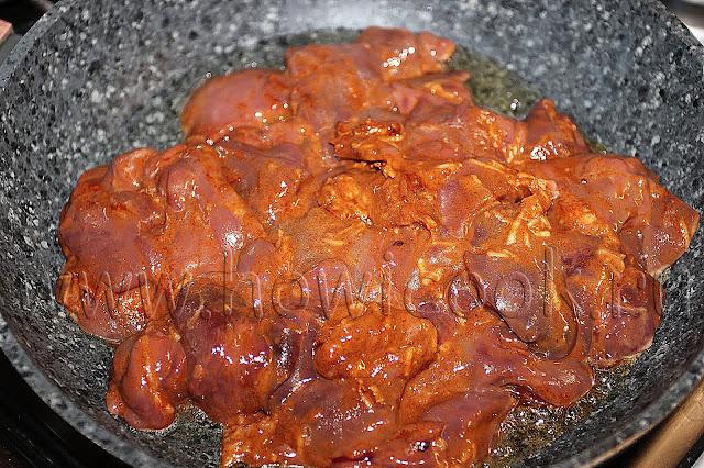 рецепт куриной печени в восточном стиле с пошаговыми фото