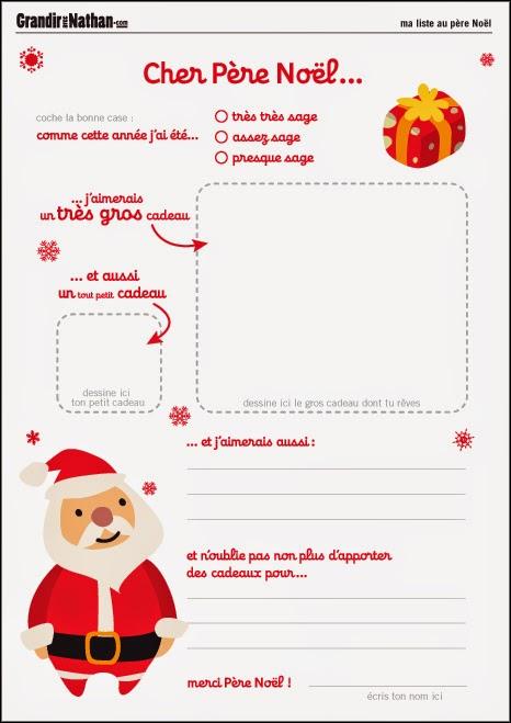 Liste Pour Le Pere Noel : liste, Bringing, Bilingual:, Noël