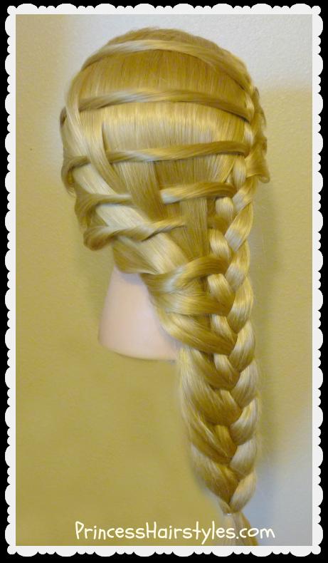 Pretty Step Ladder Braid Hairstyle Video Tutorial