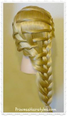 Pretty step ladder braid hairstyle, video tutorial.