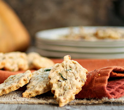 Herb and Walnut Pie Crust Leaf Crackers
