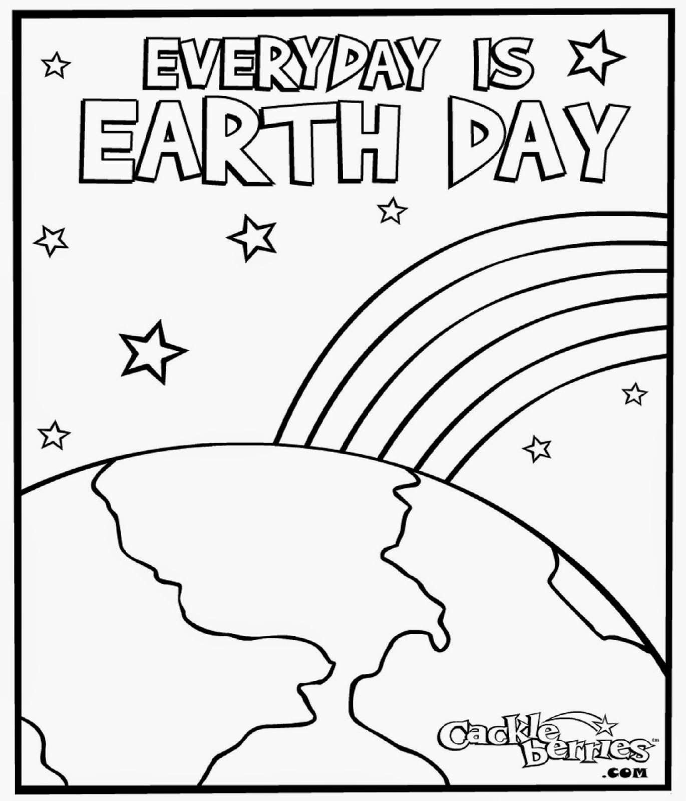 Earth Day Color Sheets