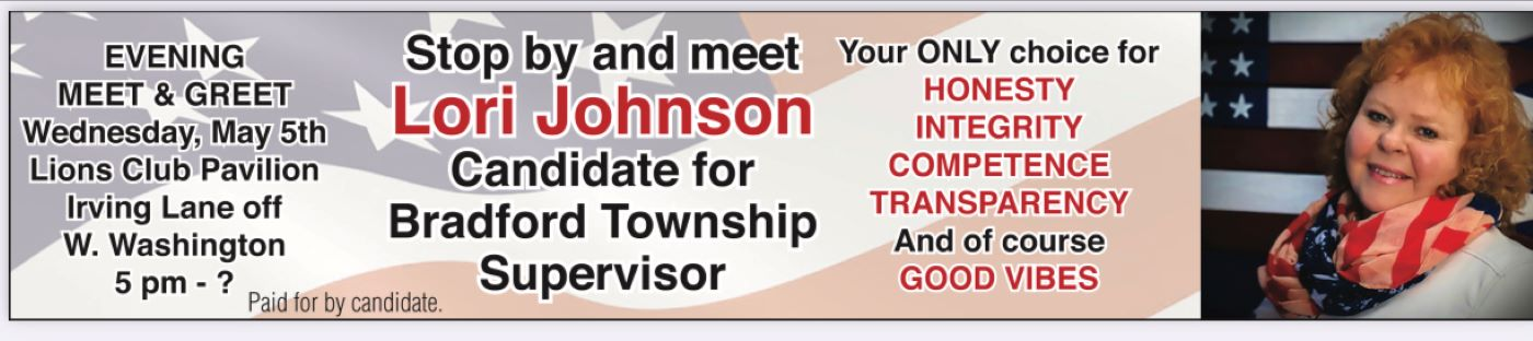 Lori Johnson Candidate For Bradford Township Supervisor
