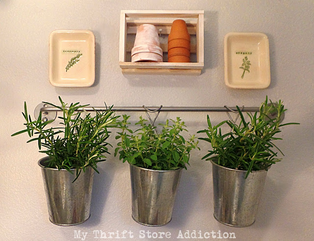 reclaimed herb drying space