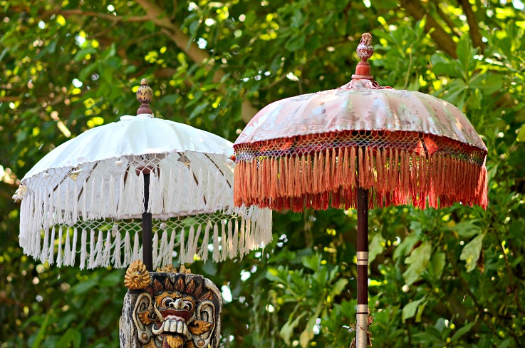 Balinese umbrellas