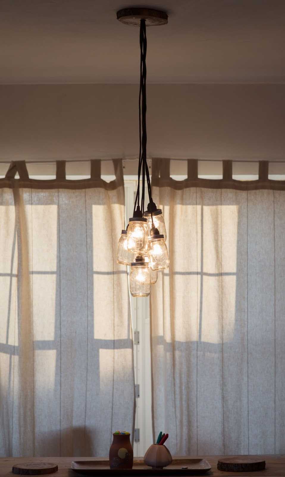 Mason Jar Chandelier DIY - Little Lady Little City
