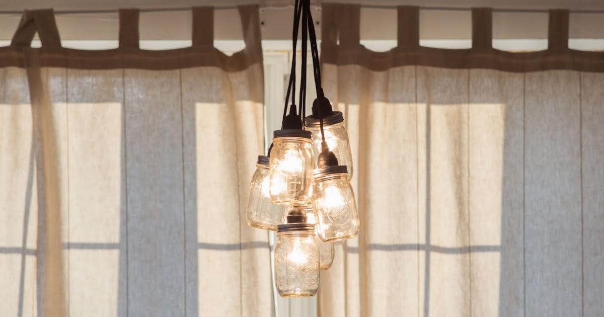 mason jar chandelier diy little lady little city. Black Bedroom Furniture Sets. Home Design Ideas