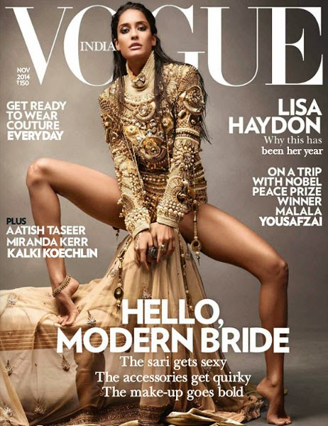 Lisa Haydon, Bollywood Actresses on Indian Magazines November 2014 Covers