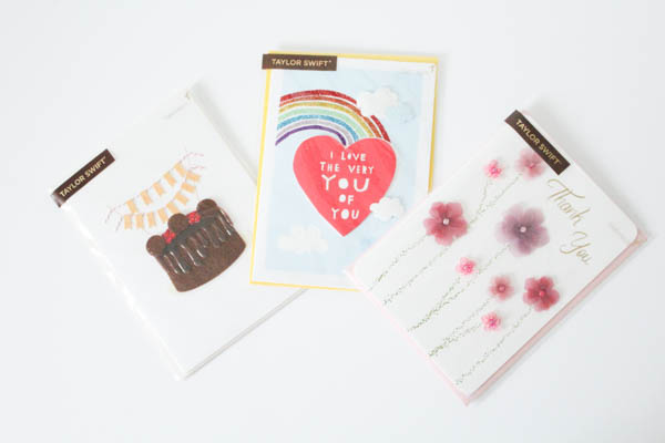 We Both Love Taylor Swift And Everything Girly This New Line Of 44 Cards At Target Features Adorable Embellishments Such As Brightly Colored Glitter
