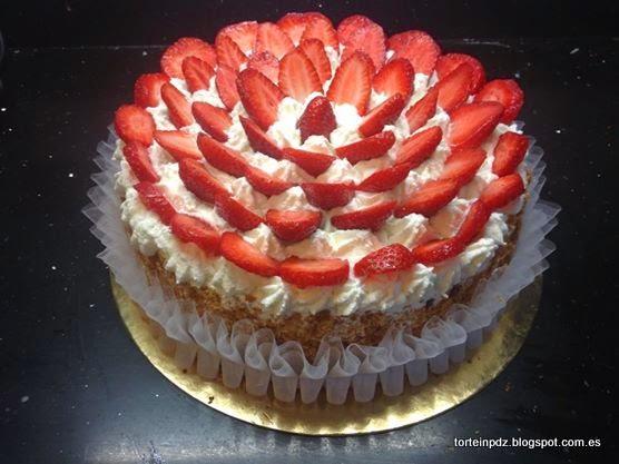 Torte in pdz e non solo torta con fragole for Decorazioni torte con fragole e cioccolato